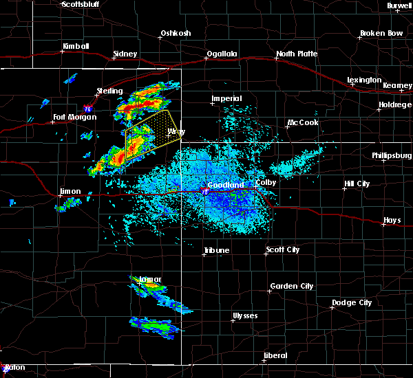 Radar Image for Severe Thunderstorms near Bird City, KS at 8/11/2020 4:14 PM MDT