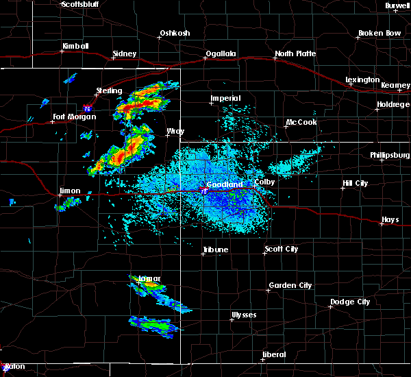 Radar Image for Severe Thunderstorms near Bird City, KS at 8/11/2020 4:29 PM MDT