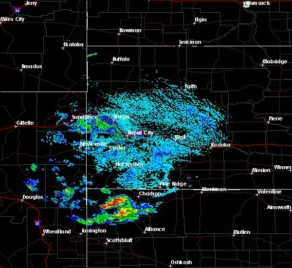 Radar Image for Severe Thunderstorms near Pine Ridge, SD at 8/11/2020 4:37 PM MDT