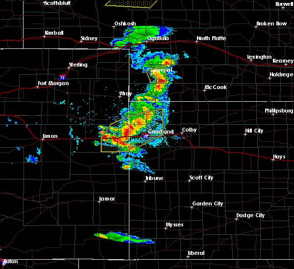 Radar Image for Severe Thunderstorms near Bird City, KS at 8/11/2020 5:42 PM MDT