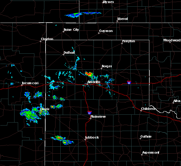 Radar Image for Severe Thunderstorms near Fritch, TX at 8/11/2020 6:49 PM CDT