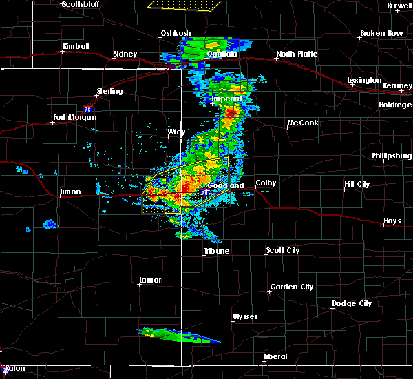 Radar Image for Severe Thunderstorms near Goodland, KS at 8/11/2020 5:54 PM MDT