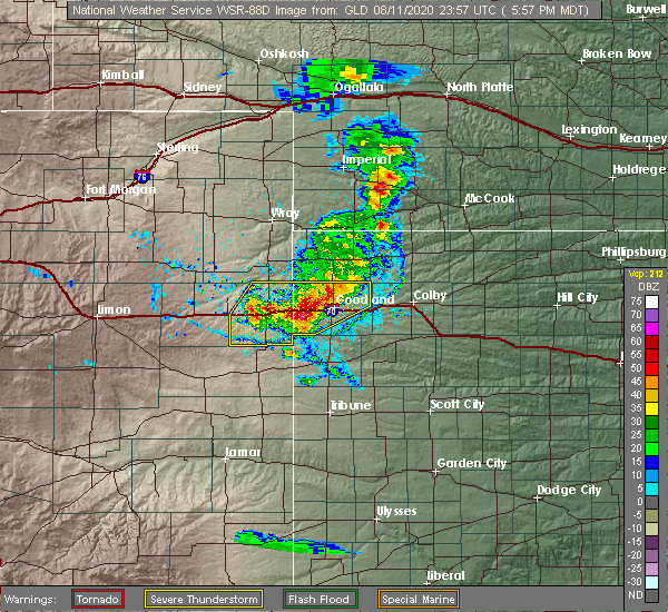 Radar Image for Severe Thunderstorms near Wallace, KS at 8/11/2020 7:01 PM CDT