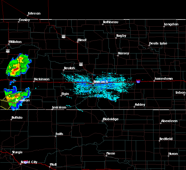 Radar Image for Severe Thunderstorms near Amidon, ND at 8/11/2020 6:17 PM MDT