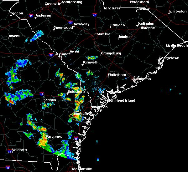 Radar Image for Severe Thunderstorms near Fort Stewart, GA at 8/11/2020 8:19 PM EDT