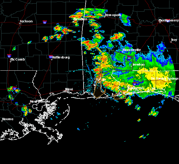 Radar Image for Severe Thunderstorms near Spanish Fort, AL at 8/11/2020 7:28 PM CDT