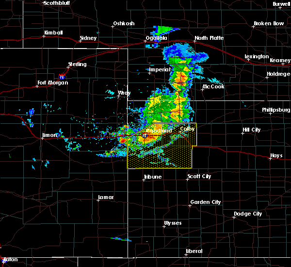 Radar Image for Severe Thunderstorms near Wallace, KS at 8/11/2020 7:32 PM CDT