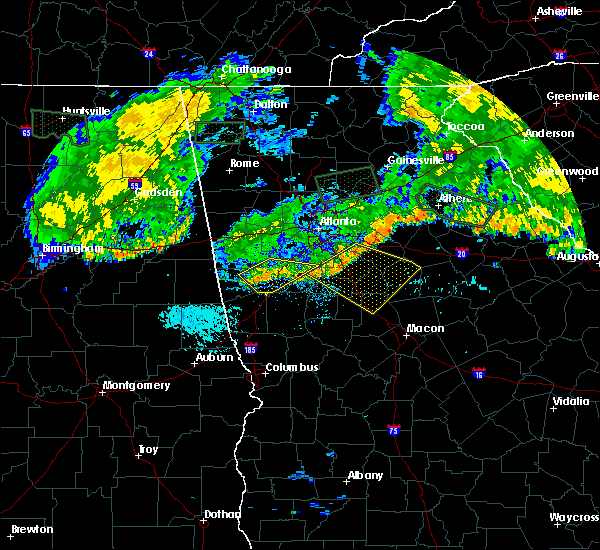 Radar Image for Severe Thunderstorms near Jenkinsburg, GA at 7/3/2015 10:10 AM EDT