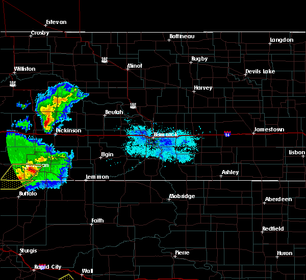 Radar Image for Severe Thunderstorms near Bucyrus, ND at 8/11/2020 7:24 PM MDT