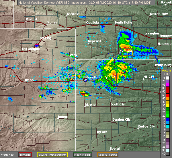 Radar Image for Severe Thunderstorms near Indianola, NE at 8/11/2020 8:43 PM CDT