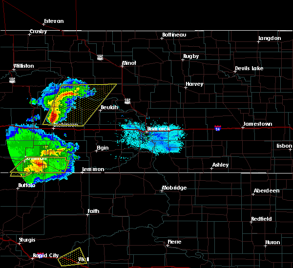 Radar Image for Severe Thunderstorms near Bucyrus, ND at 8/11/2020 7:45 PM MDT
