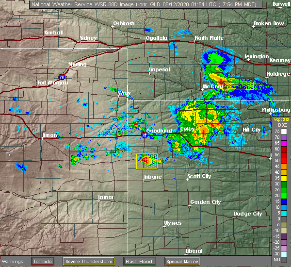 Radar Image for Severe Thunderstorms near Wallace, KS at 8/11/2020 7:58 PM MDT