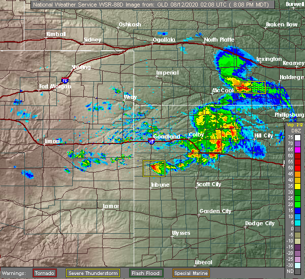 Radar Image for Severe Thunderstorms near Wallace, KS at 8/11/2020 8:13 PM MDT