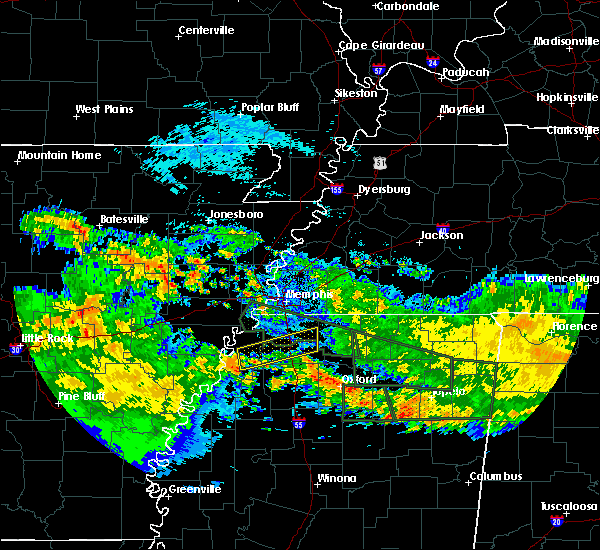 Radar Image for Severe Thunderstorms near Senatobia, MS at 7/3/2015 10:05 AM CDT