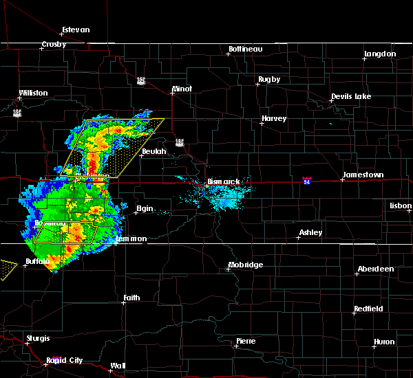Radar Image for Severe Thunderstorms near Bucyrus, ND at 8/11/2020 8:18 PM MDT