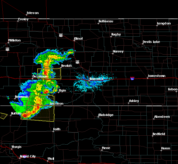 Radar Image for Severe Thunderstorms near Hebron, ND at 8/11/2020 8:46 PM MDT