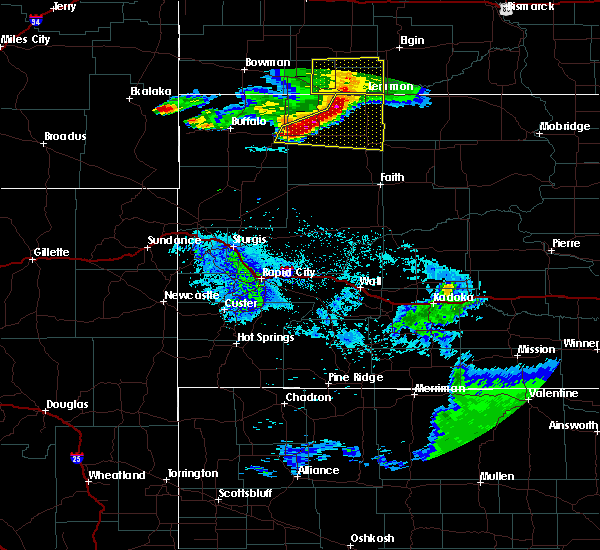 Radar Image for Severe Thunderstorms near Bison, SD at 8/11/2020 8:57 PM MDT