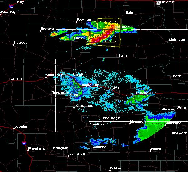 Radar Image for Severe Thunderstorms near Bison, SD at 8/11/2020 9:06 PM MDT