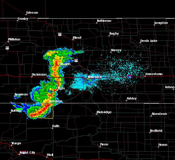 Radar Image for Severe Thunderstorms near Bison, SD at 8/11/2020 9:19 PM MDT