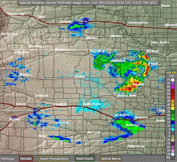 Radar Image for Severe Thunderstorms near Ord, NE at 8/11/2020 11:03 PM CDT