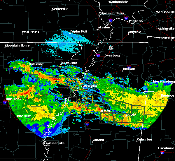 Radar Image for Severe Thunderstorms near Coldwater, MS at 7/3/2015 10:20 AM CDT