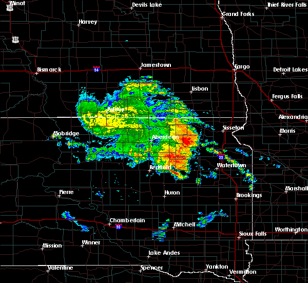 Radar Image for Severe Thunderstorms near Lake City, SD at 8/12/2020 4:11 AM CDT