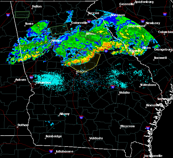 Radar Image for Severe Thunderstorms near Davisboro, GA at 7/3/2015 11:31 AM EDT