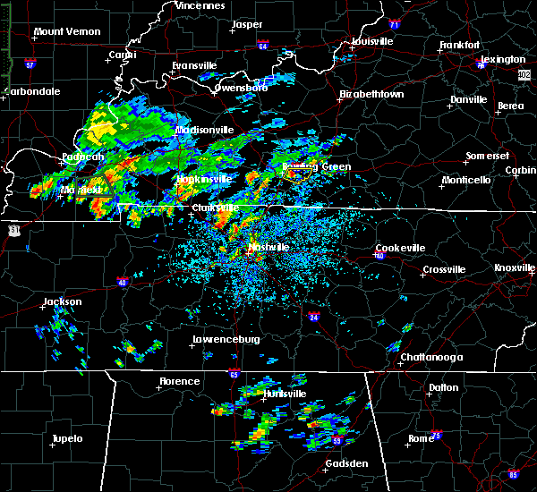 Radar Image for Severe Thunderstorms near Bowling Green, KY at 8/12/2020 1:06 PM CDT