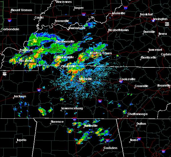 Radar Image for Severe Thunderstorms near Nashville, TN at 8/12/2020 1:25 PM CDT