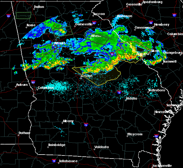 Radar Image for Severe Thunderstorms near Tennille, GA at 7/3/2015 12:09 PM EDT