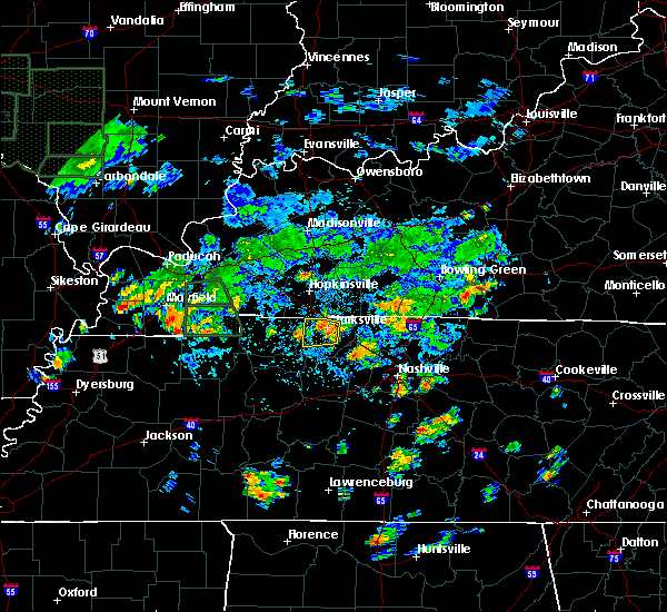 Radar Image for Severe Thunderstorms near Clarksville, TN at 8/12/2020 2:08 PM CDT