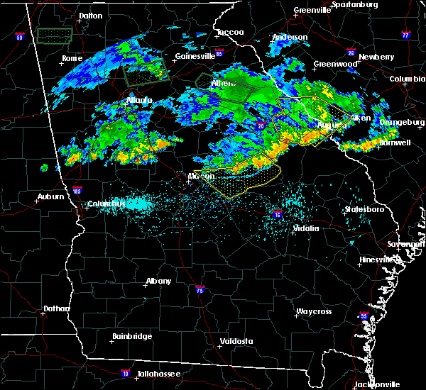 Radar Image for Severe Thunderstorms near Davisboro, GA at 7/3/2015 12:14 PM EDT