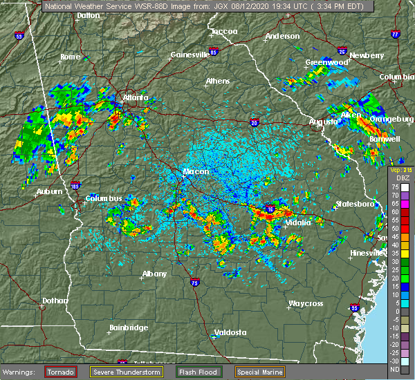 Radar Image for Severe Thunderstorms near Alston, GA at 8/12/2020 3:37 PM EDT