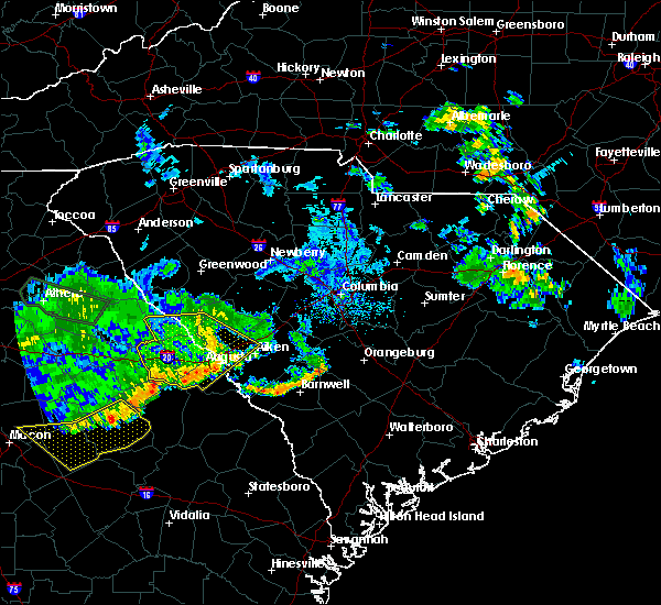 Radar Image for Severe Thunderstorms near Belvedere, SC at 7/3/2015 12:17 PM EDT