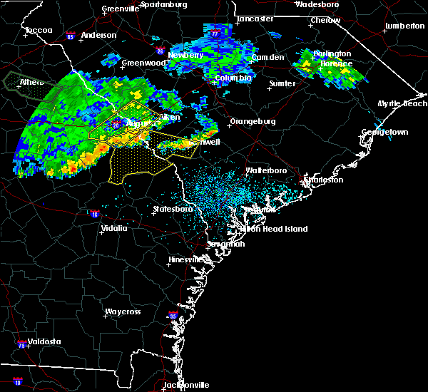 Radar Image for Severe Thunderstorms near Barnwell, SC at 7/3/2015 12:27 PM EDT