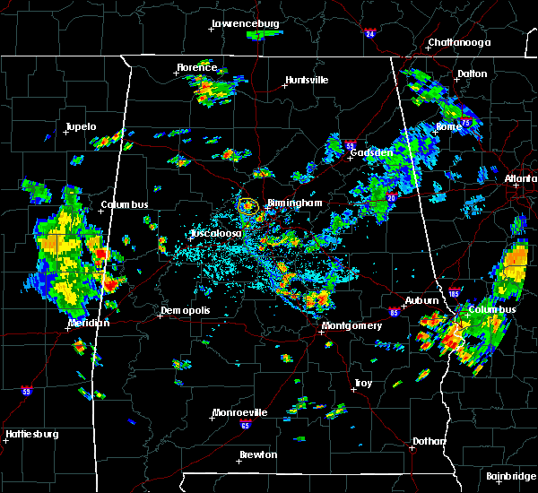 Radar Image for Severe Thunderstorms near Birmingham, AL at 8/12/2020 5:39 PM CDT