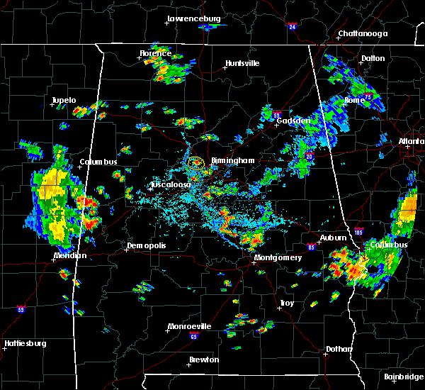 Radar Image for Severe Thunderstorms near Birmingham, AL at 8/12/2020 5:47 PM CDT