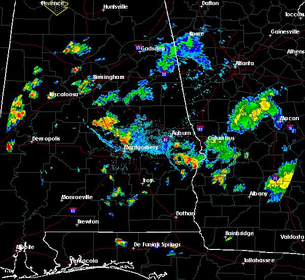 Radar Image for Severe Thunderstorms near Redland, AL at 8/12/2020 6:27 PM CDT