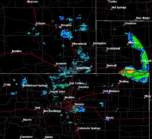 Radar Image for Severe Thunderstorms near Lodgepole, NE at 8/12/2020 6:59 PM MDT