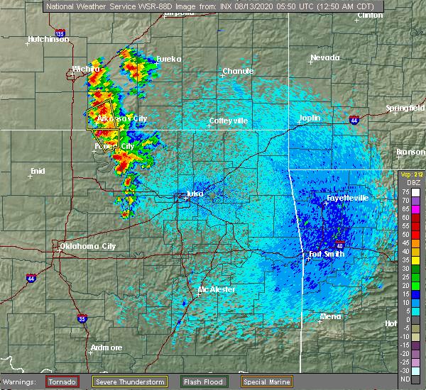Radar Image for Severe Thunderstorms near Fairfax, OK at 8/13/2020 12:53 AM CDT