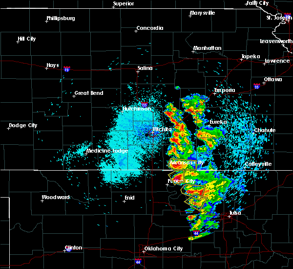 Radar Image for Severe Thunderstorms near Kaw City, OK at 8/13/2020 1:27 AM CDT