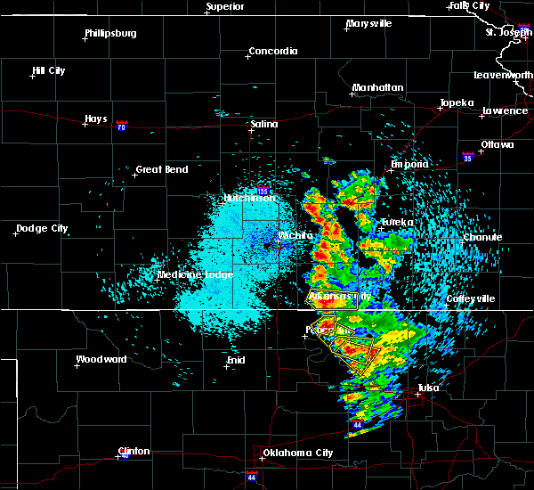 Radar Image for Severe Thunderstorms near Kaw City, OK at 8/13/2020 1:35 AM CDT