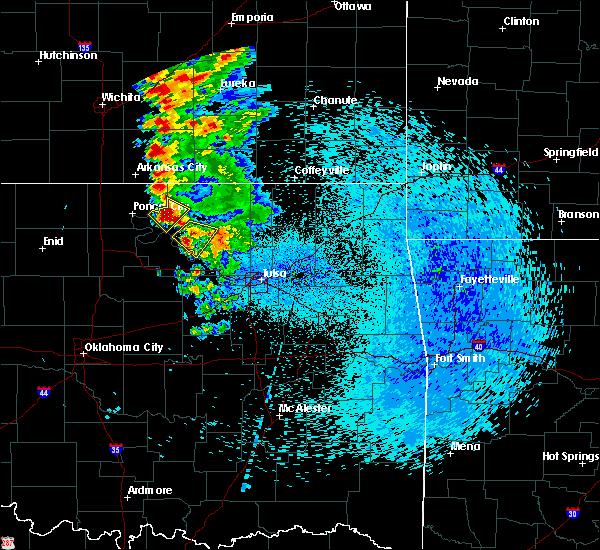 Radar Image for Severe Thunderstorms near Fairfax, OK at 8/13/2020 2:02 AM CDT