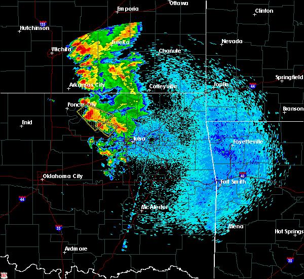 Radar Image for Severe Thunderstorms near Fairfax, OK at 8/13/2020 2:20 AM CDT