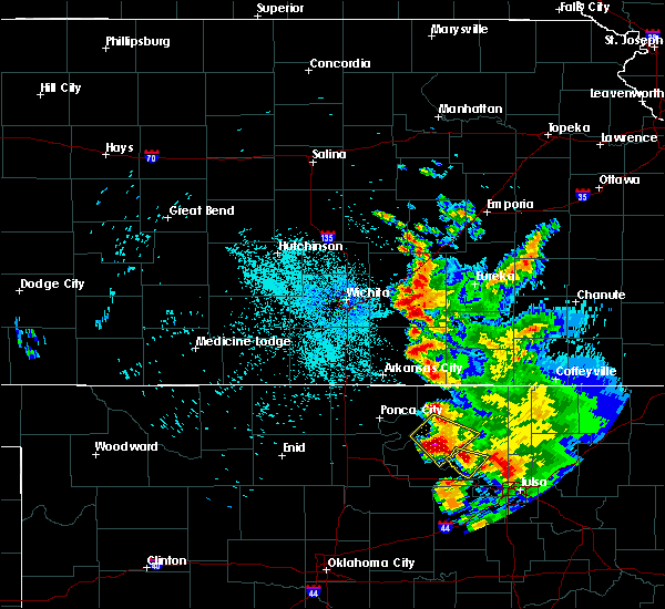Radar Image for Severe Thunderstorms near Severy, KS at 8/13/2020 2:45 AM CDT