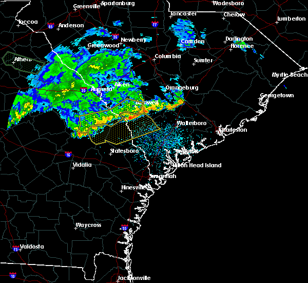 Radar Image for Severe Thunderstorms near Allendale, SC at 7/3/2015 1:12 PM EDT