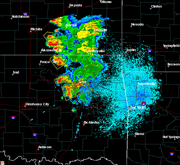 Radar Image for Severe Thunderstorms near Fair Oaks, OK at 8/13/2020 3:37 AM CDT