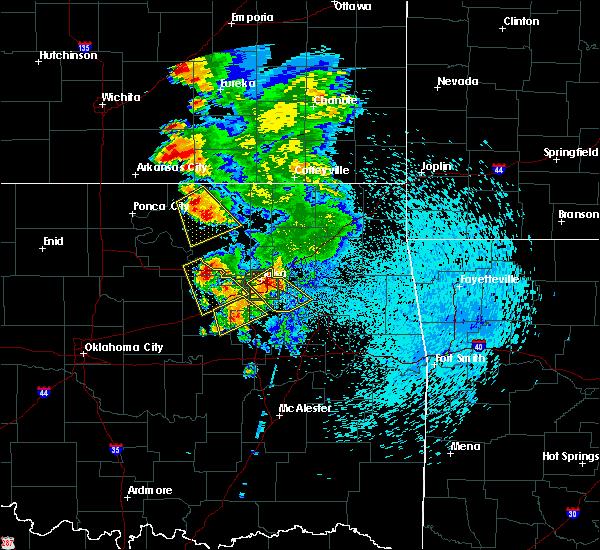 Radar Image for Severe Thunderstorms near Fair Oaks, OK at 8/13/2020 3:51 AM CDT