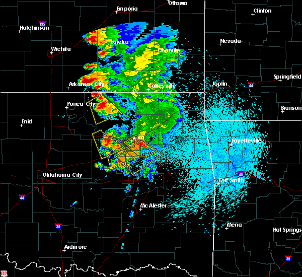Radar Image for Severe Thunderstorms near Bristow, OK at 8/13/2020 3:58 AM CDT
