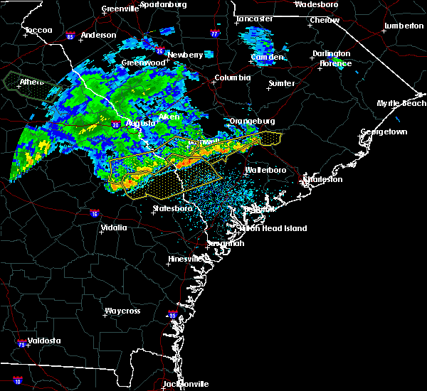 Radar Image for Severe Thunderstorms near Summerville, SC at 7/3/2015 1:20 PM EDT